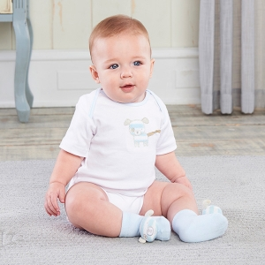 Puppy Pal Two-Piece Layette Set for Baby imagerjs