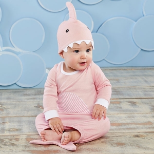 Let The Fin Begin Two-Piece Layette Set imagerjs