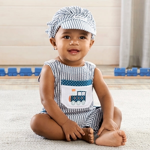 All Aboard! Train Romper and Hat Set imagerjs