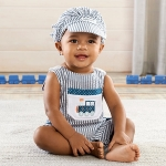 All Aboard! Train Romper and Hat Set