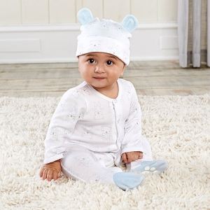 Beary Sleepy Baby Blue Pajama Gift Set imagerjs