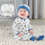 Little Peanut Elephant Blue Pajama Gift Set