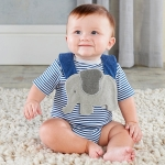 Little Peanut Elephant Blue Layette Gift Set