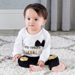 Trendy Baby Here Comes Trouble 2 Piece Outfit