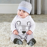Trendy Baby Bear 2 Piece Pajama Gift Set