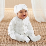 Natural Baby Bamboo Bunny Pajama with Mittens Gift Set