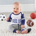 My First Gameday 2-Piece Outfit with Rattle (0-6 mos)