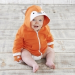 Orange Fox Happy Hoodie and Mittens
