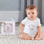 My First Milestone Pink Baby Month Stickers