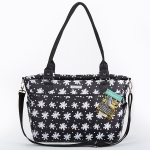 Baby Aspen 360 Signature Black and White Floral Diaper Bag