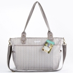Baby Aspen 360 Signature Grey Chevron Diaper Bag