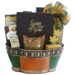 Leaves of Gold Sympathy Basket