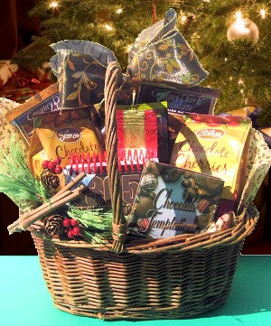 Chocolate Temptations Holiday Basket data-pin-no-hover=