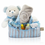 Baby's First Teddy and Diaper Caddy