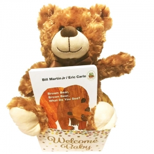 Brown Bear Baby Plush and Book Gift Set imagerjs