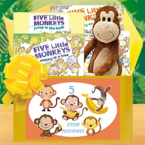 5 Little Monkeys Baby Books Gift Box imagerjs