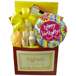 Birthday Spa and Puzzle Basket