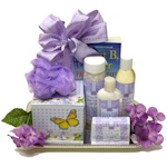 Lavender Pamper Spa and Book Gift Basket
