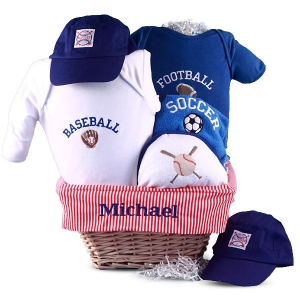 All Sports Baby Gift Basket imagerjs