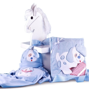 Puppy Layette Baby Gift in Designer Gift Box imagerjs