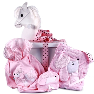Poodle Layette Baby Gift in Designer Gift Box imagerjs