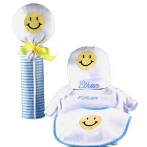 Little Happy Face Personalized Baby Gift imagerjs