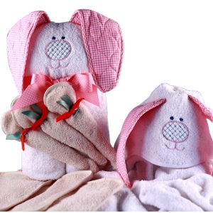 Sweet Bunny Rabbit Hooded Baby Towel imagerjs