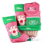 Baby's First Christmas Personalized Gift Basket