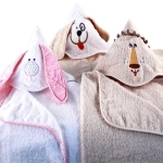 Personalized Hooded Towel (Lion - Puppy - Bunny)
