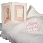 Keepsake Blanket and Footprint Picture Frame