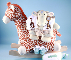 Plush Giraffe Rocker Gift Set imagerjs