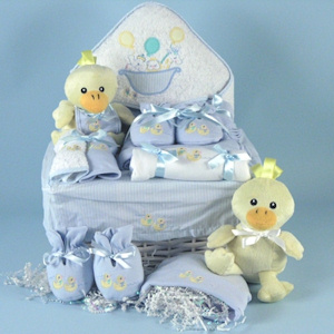 Noah's Ark Baby Boy Gift Basket data-pin-no-hover=