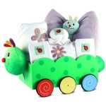 Caterpillar Wagon & Layette Baby Girl Gift