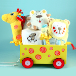 Newborn Giraffe Plush Welcome Wagon