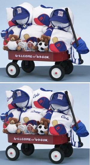 Twin Boys Sporty Welcome Wagon imagerjs