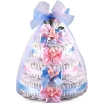 Pink and Blue Baby Shower Diaper Cake