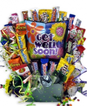 Get Well Candy Bouquets