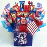 Patriotic Red White & Blue Candy Gift Bouquet
