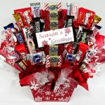 Season's Greetings Holiday Candy Basket