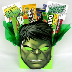 The Hulk Candy & Treats Gift Basket imagerjs