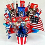 Stars and Stripes Patriotic Candy Arrangement