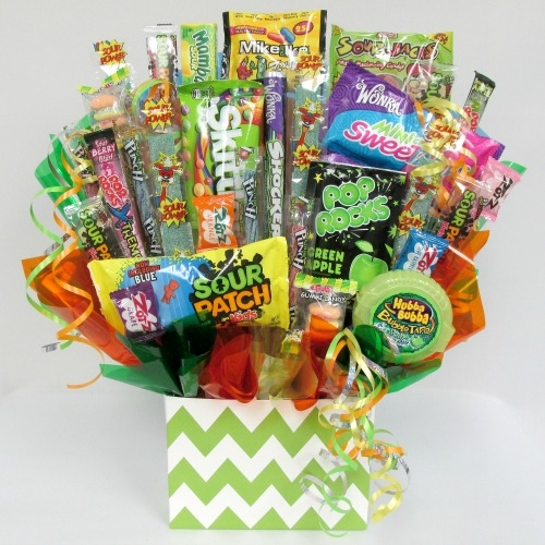 Sour lover candy gift bouquet aagiftsandbaskets