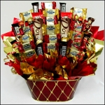 Sweet Sentiment Chocolate Holiday Basket