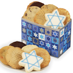 Chanukah Star of David Cookie Box