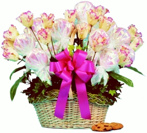 Tasteful Tulips Bouquet (Regular or Sugar Free) image