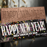 Happy New Year Chocolate Bars (Case of 50)