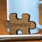 Milk Chocolate Teamwork Puzzle Piece (Case of 50)
