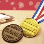 Chocolate Excellence Medallion with Ribbon (Case of 50)