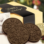 Chocolate Snowflake Cookie Gift Box (Case of 8)