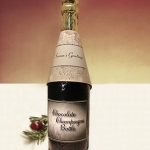 Seasons Greetings Chocolate Champagne Bottles (Case of 4)